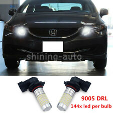 9005 LED Daytime Running Light bulbs For Honda Civic Accord Odyssey 2006 -2015 f