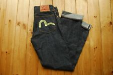 "EVISU Raw Cimosa Jeans Denim Made in Italy 32"""