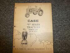 Case Model V Vc Vo Vi Crop Orchard Farm Industrial Tractor Parts Catalog Manual