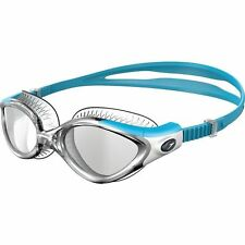 NEW SPEEDO FUTURA BIOFUSE FLEXISEAL FEMALE SWIMMING GOGGLES CLEAR BLUE FOR WOMEN