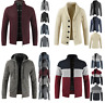 Mens Winter Warm Knitted Sweater Jacket Trench Coat Thicken Cardigan Tops