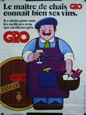 Affiches publicitaires anciennes de collection vin, gastronomie