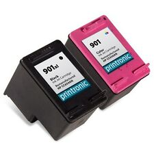 2PK HP 901XL Ink Cartridge CC654AN CC656AN OfficeJet 4500 OfficeJet 4580 Printer