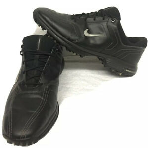 Men's Nike Leather Golf Cleat Shoe - Size 10- 2011- Plastic Cleats - Very Good