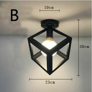 Nordic Wrought Iron Retro Corridor Vintage Ceiling Lamp For Living Room Bedroom