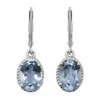 Lever Back Earrings 925 Sterling Silver Sky Blue Topaz Jewelry for Women Ct 2.9