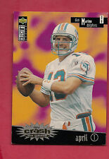 RARE 1996 CC YOU CRASH THE GAME DOLPHINS DAN MARINO NO# PROMO  CARD