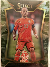WESLEY SNEIJDER 2015 PANINI SELECT SOCCER NETHERLANDS BASE CAMO PRIZM # 058/249