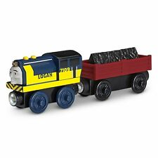 Thomas & Friends Wooden Railway Logan Big Blue Coal Cargo Tender Truck Sodor