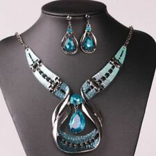 Wild Jewelry Necklace Enamel Exaggerated Crystal Earring Jewelry Set Droplets