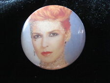 Toyah Willcox-Gold Shimmer Face-Punk-Pin Badge Button-80's Vintage-Rare