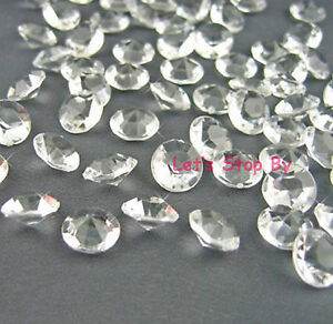 500 PCS 8mm  Acrylic Diamond Confetti for Wedding DecorationTable Scatters Clear