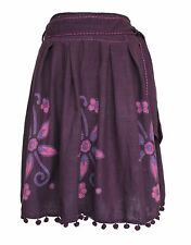 Brand New! Nomads Purple Midi Skirt with Tie-Up Belt: Size 10