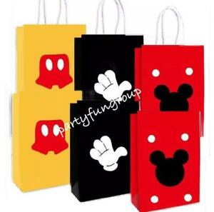 Mickey Mouse Paper Bag / Lollies Gift Bag Party Decoration Party Supplies