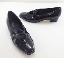 """Ros Hommerson Womens 8.5M Black Patent Leather Loafers 1"""" Heels Shoes Heels"""