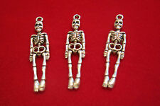"""BULK! 30pc """"skeleton body"""" charms in antique silver style (BC437B)"""