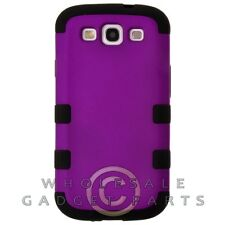 Samsung i9300 Galaxy S3 TUFF Hybrid Case Rubberized Purple/Black Cover Shell