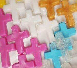 Baptism Christening Favors Baby Shower Cross Custom Scented Soaps - Pack of 25