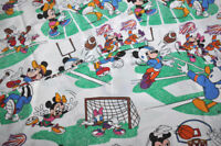 VINTAGE Disney flat sheet mickey and his friends / drap plat mickey