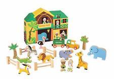 STORY BOX SAFARI PLAYSET BY JANOD  - BOXED 19 SAFARI THEMED WOODEN TOY **NEW**