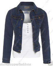 NEW Plus Size 16 18 20 22 24 DENIM JACKET Women's Jean Jackets Ladies Blue