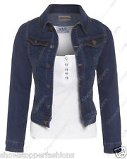 NEW Plus Size 16 18 20 22 24 DENIM JACKET Women's Jean Jackets Ladies Blue