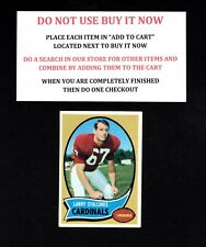 1970 TOPPS FOOTBALL #101 TO 200 SELECT FROM OUR LIST