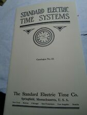 Standard Electric Time Systems 1914 Catalog #33-Reprint-64 Pages