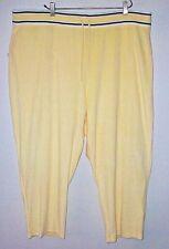 NWT Ladies Plus Size 3X Casual Lounge Pants St. John's Bay Yellow