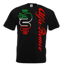 t-shirt ALFA ROMEO world rally team car STI tuner maglietta tuning