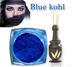 Moroccan Kohl powder, Khol Blue 100% Natural, Blue Eyeliner Makeup