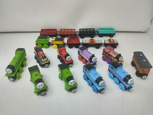Lot of 10 Thomas the Train & Friends Wooden Magnetic Trains Engines Cars Tender