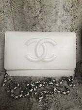 Chanel Wallet Timeless On Chain Caviar White Woc Euc