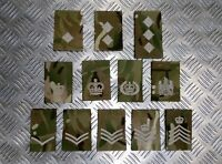 Genuine British Military Desert MTP MultiCam Camo Rank Slide Various Ranks  NEW