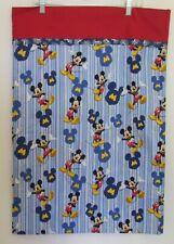Mickey Mouse Pillowcase 20 x 29 Blue Stripe Red Handmade Children Bedding Single