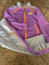 Nike  Girls 2 Pc. Pants Jacket Track Jog Suit Set Purple/grey Size 6x