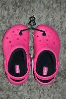 Crocs Kids Unisex Faux Fur Ralen Lined Clog K Pink j2 Eur 33-34 New