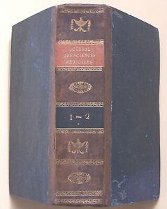 RARE Journal Universel des Sciences Médicales 1816 BE 2 tomes en 1 vol. 817 pp