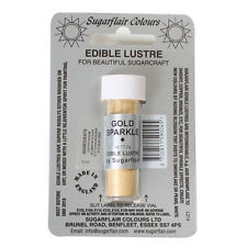 Colorante alimentare in polvere perlata Sugarflair ORO BRILLANTE GOLD SPARKLE