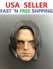 1/6 Winter Soldier Bucky Barnes Head Sculpt for 12'' Male PHICEN Captain America