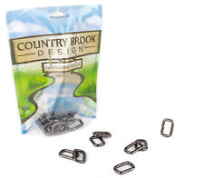 10 - Country Brook Design® 3/4 Inch Gunmetal Heavy Welded Rectangle Rings