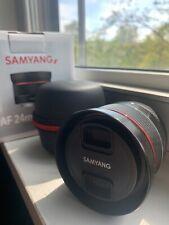 Samyang AF 24mm f/2.8 Sony FE Full Frame E-Mount With Box/Caps/Hood