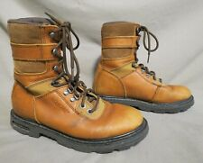 Mens Wolverine Tan Leather Hiking Farm Work Boots Us Size 9 M