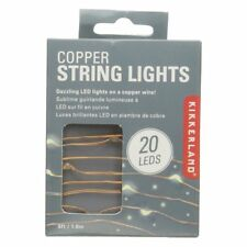 Kikkerland Copper Wire White LED String Lights