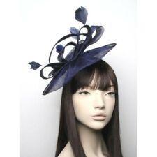 Large Navy Blue Hat Fascinator Ladies Day Races Ascot Weddings