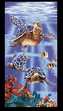 "Sea Turtle Beach Towel Purple Ocean Deep Souvenir Pool Party Gift Gym 30"" x 60"""