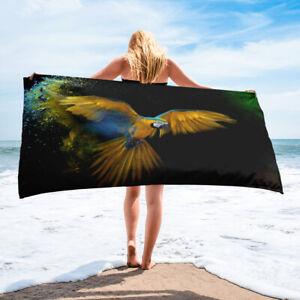 Flying Parrot Tropical Bath or Beach Towel Birds Avian