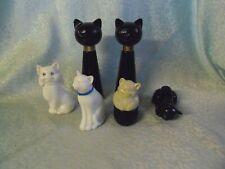 Vintage 6 alte Avon Flakons Parfüm Katze - Katzen #9#