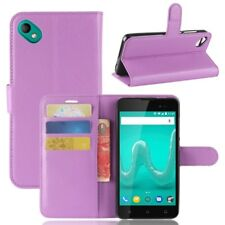 Cover Wallet Premium Purple for Wiko Sunny 2 Plus Case Cover Pouch Protective