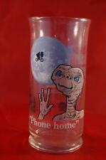 Vintage E.T. The Extra Terrestrial Pizza Hut 1982 Collectible Glass Phone Home